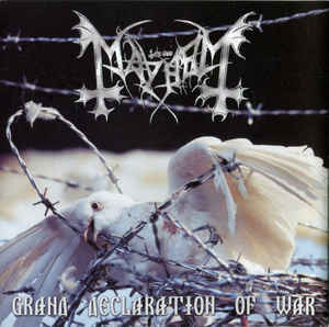 Mayhem - Grand Declaration Of War  CD